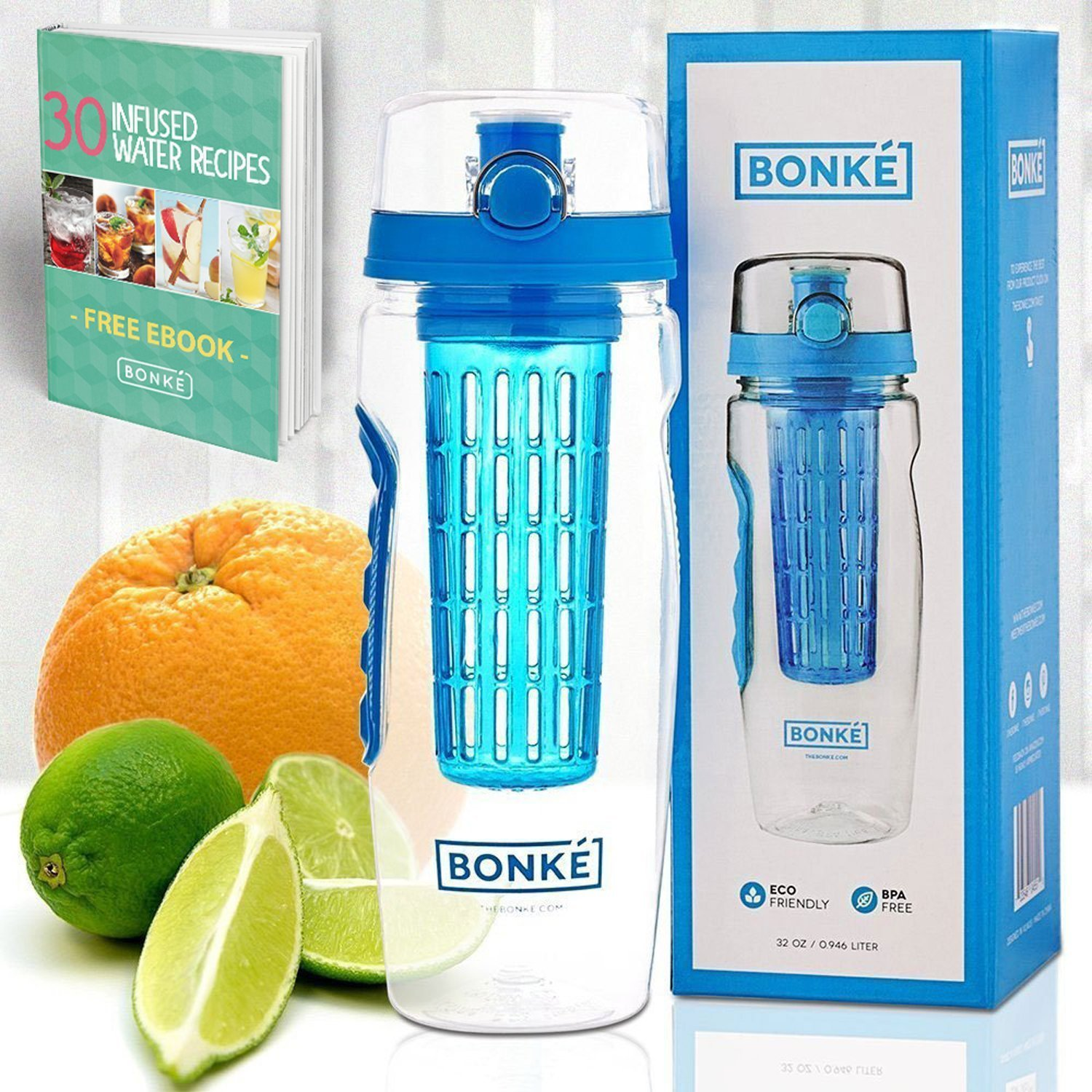 Best Fruit Infuser Water Bottle Reviews 2019 Healthy O New Tritan Infusd Bonke