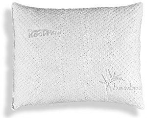 Xtreme Comforts Slim Hypoallergenic Shredded Memory Foam Standard Bamboo Pillow