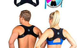 blue zone body Posture Corrector for Men and Women- FDA Approved Fully Adjustable and Lightweight Back Brace for Neck, Shoulder & Back Pain Relief- Best Slouching Corrector for Improved Posture (One Size)